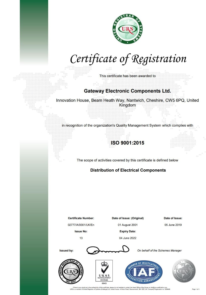 ISO 2019 Certificate